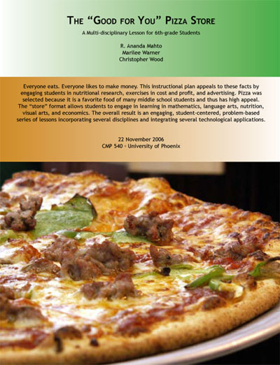 The Good For You Pizza Store document cover